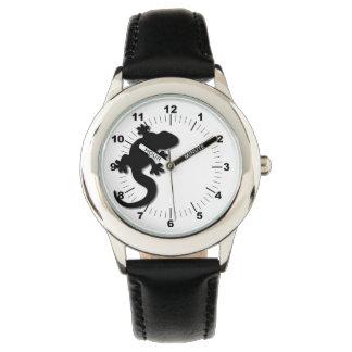 Schwarzer Gecko Armbanduhr