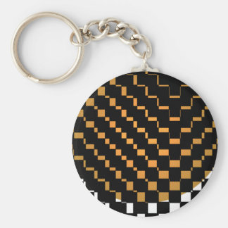 Schwarzer geometrischer Hipster Schlüsselanhänger