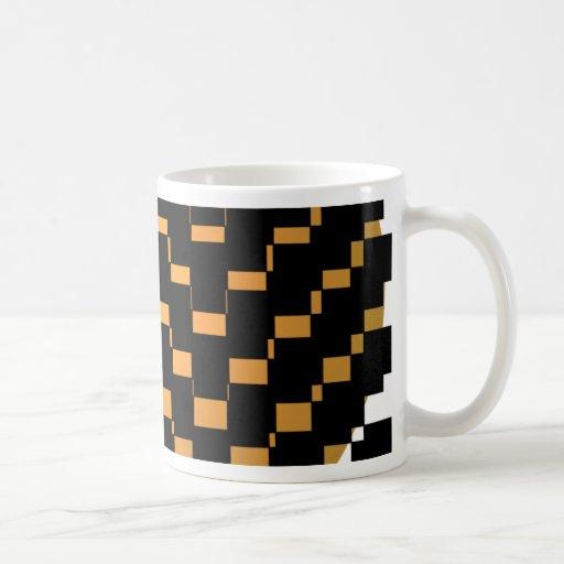 Schwarzer geometrischer Hipster Kaffee Tasse