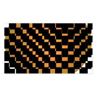 Schwarzer geometrischer Hipster Visitenkarten Vorlage