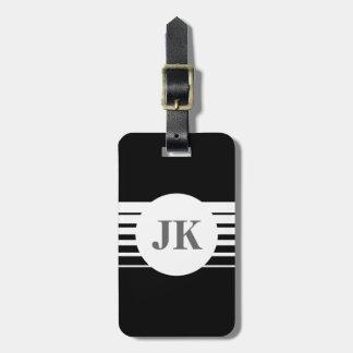 Schwarzer Gepäckanhänger mit personalizable