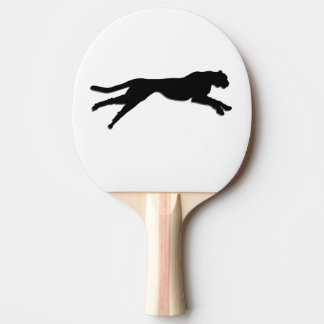 Schwarzer Gepard der grafischen Kunst Tischtennis Schläger