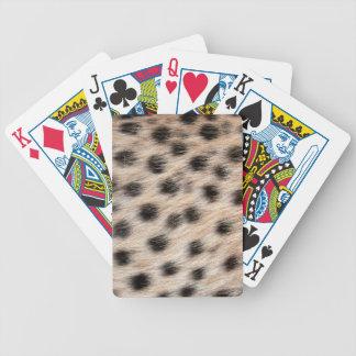 schwarzer gepunkteter Cheetahpelz oder Bicycle Spielkarten