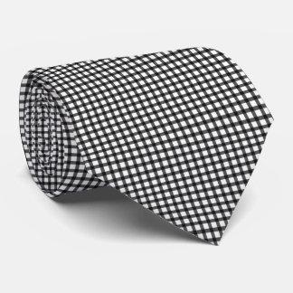 Schwarzer Gingham Krawatte