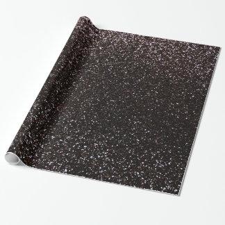 Schwarzer Glitter Einpackpapier