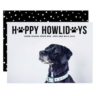 Schwarzer glücklicher Howlidays mutiger Karte