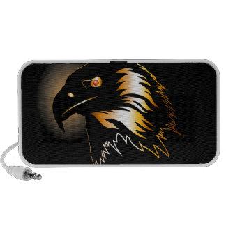 Schwarzer, goldener Adler iPod Speaker