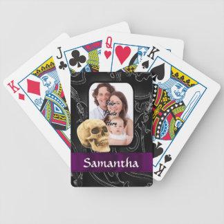 Schwarzer gotischer Schädel Bicycle Spielkarten