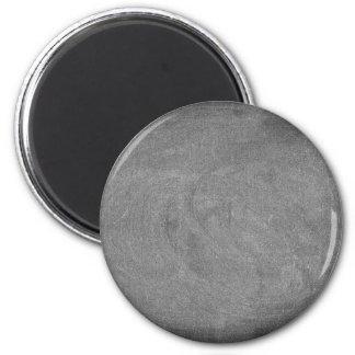 Schwarzer grauer Tafel-Tafel-Hintergrund Runder Magnet 5,7 Cm