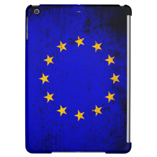 Schwarzer Grunge-europäische Gewerkschafts-Flagge