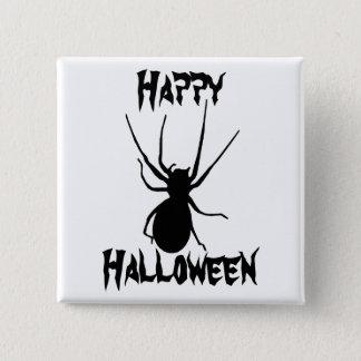 Schwarzer gruseliger Spinnen-Knopf Halloweens Quadratischer Button 5,1 Cm
