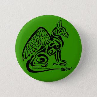 Schwarzer Gryphon runder Knopf Runder Button 5,7 Cm