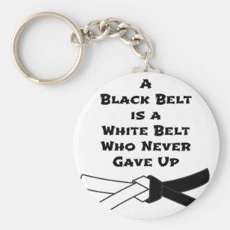 Schwarzer Gürtel Schlüsselanhänger