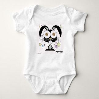 Schwarzer Häschen-Bodysuit Baby Strampler