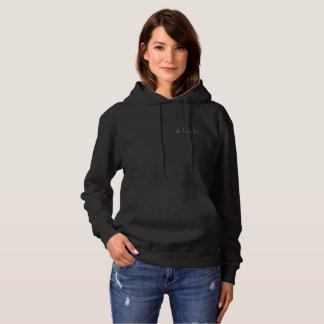 schwarzer Hoodie der Frauen 4TEN der Pullover