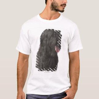 Schwarzer Hund, Briard T-Shirt