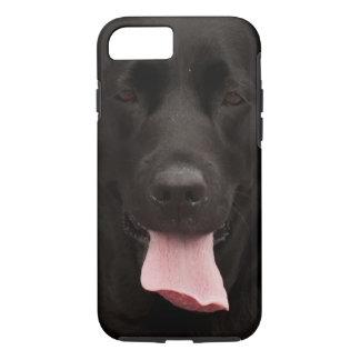 Schwarzer Hund iPhone 8/7 Hülle