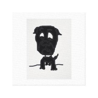 Schwarzer Hund Leinwanddruck