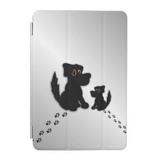 Schwarzer Hundefamilie iPad Mini Hülle