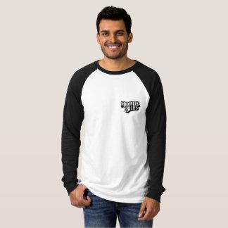 Schwarzer Hunderaglan-T-Stück T-Shirt