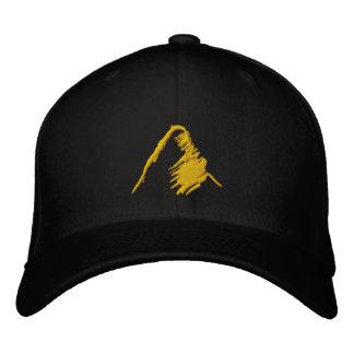 Schwarzer Hut mit gesticktem orange Logo Bestickte Caps