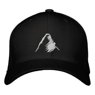 Schwarzer Hut mit gesticktem weißem Logo Bestickte Baseballmützen