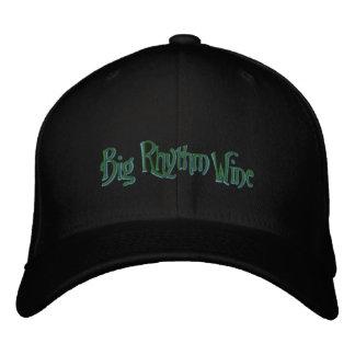 Schwarzer Hut mit grünem und gelbem Logo Bestickte Baseballcaps