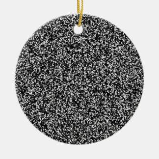 Schwarzer Imitat-Glitter Rundes Keramik Ornament
