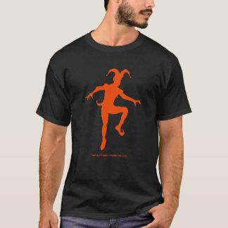 Schwarzer Joker/orangefarbener T-Shirt