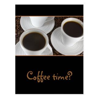 Schwarzer Kaffee Postkarte