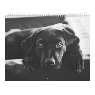 Schwarzer Kalender Labradors 2018