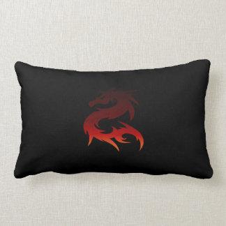 Schwarzer Kissen-Rot-Drache Lendenkissen