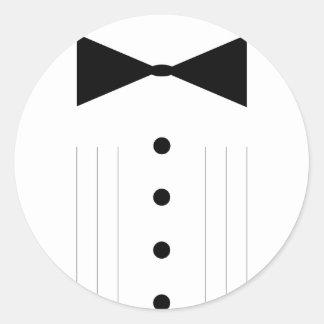 schwarzer Krawatte bowtie Tuxedo Runder Aufkleber
