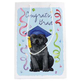Schwarzer Labrador-Absolvent Mittlere Geschenktüte