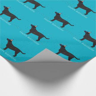 Schwarzer Labrador-alles- Gute zum Geschenkpapier