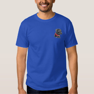 Schwarzer Labrador Besticktes T-Shirt