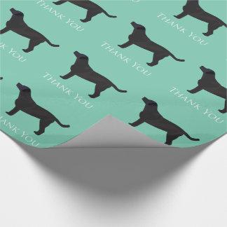 Schwarzer Labrador danken Ihnen zu entwerfen Geschenkpapier