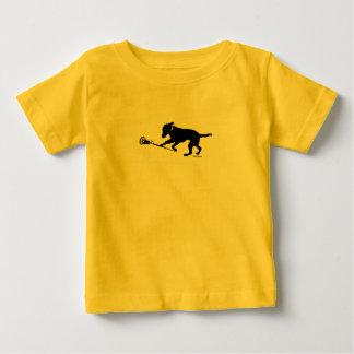 Schwarzer Labrador, der Lacrosse-Baby-T - Shirt
