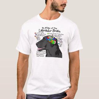 Schwarzer Labrador-Gehirn-Atlas T-Shirt
