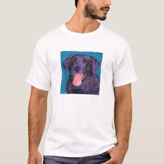 """Schwarzer Labrador - heller T - Shirt - """"Pinecone"""
