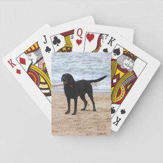 Schwarzer Labrador-Hund Spielkarten