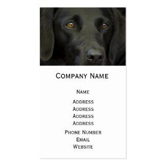Schwarzer Labrador-Hund Visitenkarte
