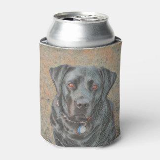 Schwarzer Labrador kann cooler Dosenkühler