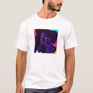 Schwarzer Labrador-Mischungs-HundeT - Shirt
