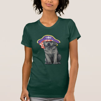 Schwarzer Labrador-Pirat T-Shirt