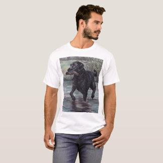 Schwarzer Labrador-Retriever-Hundekunst-T - Shirt