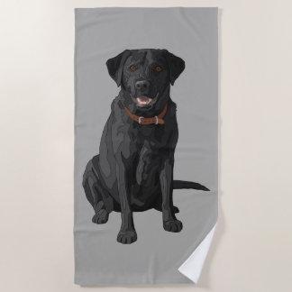 Schwarzer Labrador retriever-Hundeliebhaber Strandtuch