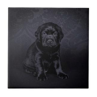 Schwarzer Labrador retriever-Welpe Keramikfliese