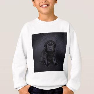 Schwarzer Labrador retriever-Welpe Sweatshirt