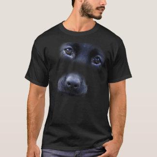 Schwarzer Labrador-Welpengesichts-T - Shirt